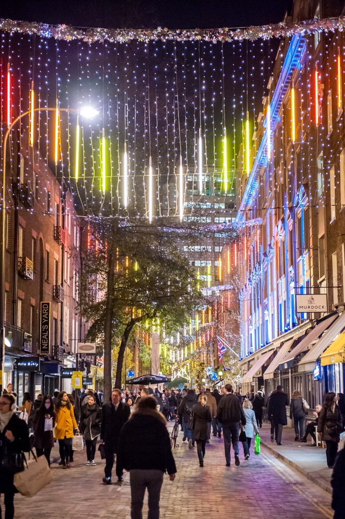 Christmas Shopping Night à Seven Dials