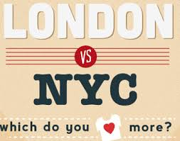 Londres vs New York, l'infographie !