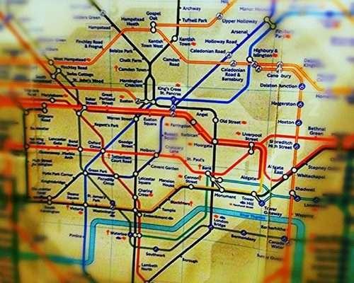 Londres pratique : WalkLondon, le plan des temps de marche entre chaque station !